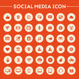 Big Social Media icon set Royalty Free Stock Photos