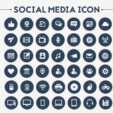 Big Social Media icon set vector illustration