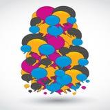 Big social media speech bubble Stock Images