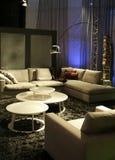 Big sofa in living space Stock Photos