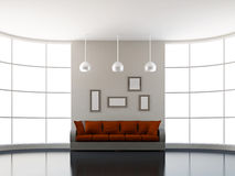 Big sofa in the livingroom Stock Photography