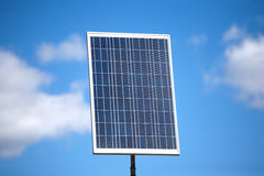Big solar panel over blue sky with clouds Royalty Free Stock Photos