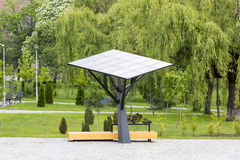 Big solar station/panel in a park Royalty Free Stock Image