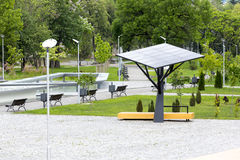 Big solar station/panel in a park Stock Photos