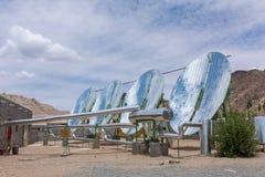 Big Solar Water Boilers in modern experimental school in Leh, Ladakh, India. Alternative energy conсept royalty free stock image