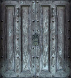 Big solid iron door. Big solid iron protected door royalty free stock photography