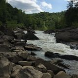 Big South Fork River. Bend in the South Fork River Stock Image