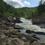 Big South Fork River. Boulders along the Big South Fork River in Tennessee Royalty Free Stock Photo