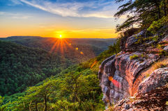 Big South Fork River Gorge, Sunset, Tennessee Stock Images