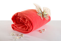 Big spa towel Royalty Free Stock Photos