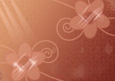 Big sparkling flowers on natural background. Big sparkling flowers on natural brown background Stock Image