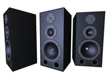 Big speakers Stock Images