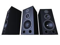 Big Speakers Royalty Free Stock Photo