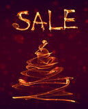 Big special hot sale offer fire background Royalty Free Stock Images
