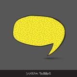 Big speech bubble. Royalty Free Stock Photo