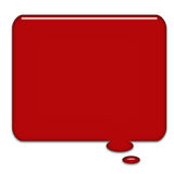 Big Speech Bubble. Created in Paint Shop Pro Glass toned speech bubble red royalty free illustration