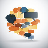 Big Speech Bubble Made from Colorful Small Bubbles Stock Photo