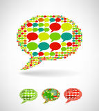 Big speech bubble made from small bubbles Royalty Free Stock Photography