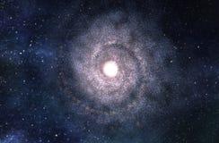 Big Spiral Galaxy - 3D Rendered Digital Illustration Stock Photo