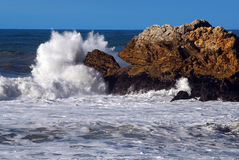 Big Splash California Coast stock image