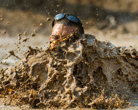 Big splash in the mud Royalty Free Stock Photos