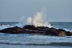 Big splash of sea water Royalty Free Stock Images