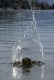 Big splash in water. Royalty Free Stock Photography