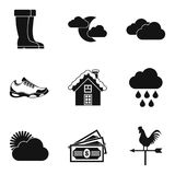 Big sport icons set, simple style. Big sport icons set. Simple set of 9 big sport vector icons for web isolated on white background Stock Photos