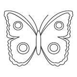 Big spot butterfly icon, outline style Royalty Free Stock Image