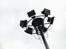 The big spotlight post under the clear blue sky Stock Photos