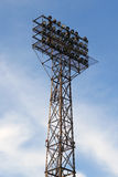 Big spotlights lighting tower Stock Photography