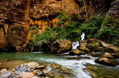 Big Spring in The Narrows at Zion National Park. Royalty Free Stock Photos