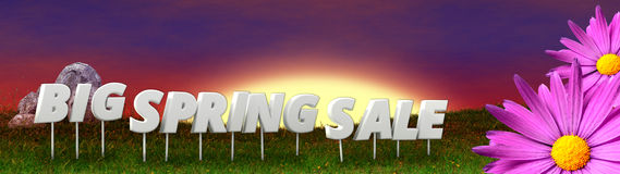 Big spring sale background template Stock Images
