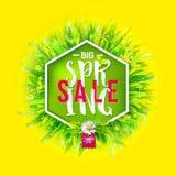 Big spring sale banner Stock Images