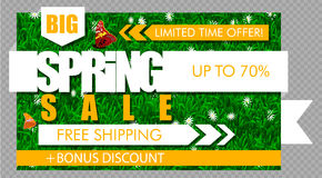 Big Spring Sale Banner Stock Photography