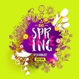 Big Spring sale blob royalty free illustration