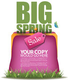 Big Spring sale change purse design EPS 10 vector Stock Images