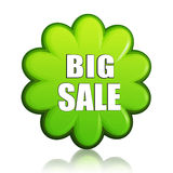 Big spring sale green flower label Stock Image
