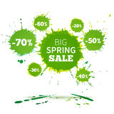 Big Spring Sale Poster design template. Royalty Free Stock Photo