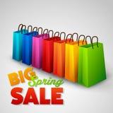Big spring sale poster Stock Image