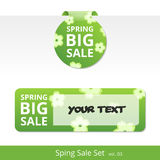 Big spring sale set. label with a rope for promotions. Stock Photo