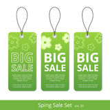 Big spring sale set. label with a rope for promotions. Big spring sale signs set. label with a rope for promotions Stock Photo