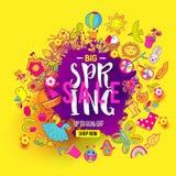 Big Spring sale spalsh vector illustration