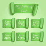Big Spring sale stickers set Royalty Free Stock Image