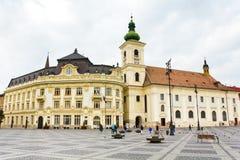 Big Square. The Big Square from Sibiu,Romania Stock Photo