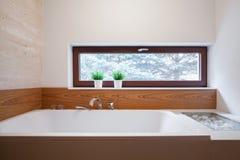 Big square bathtub Stock Photos