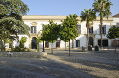 Big square in Jerez de la Frontera Royalty Free Stock Photos