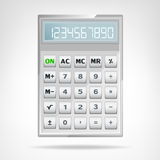 Big square metallic calculator object isolated Stock Images