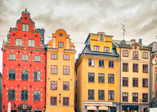 Big Square in the Old Town of Stockholm Royalty Free Stock Images