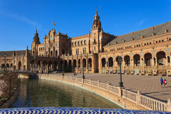 Big square in Seville Royalty Free Stock Photos